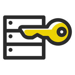 Security key colored stroke icon