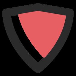 Icono de trazo de color de escudo