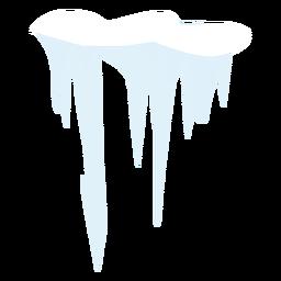 Snow icicle icon