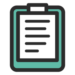 Sports clipboard colored stroke icon