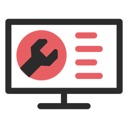 Website maintenance colored stroke icon