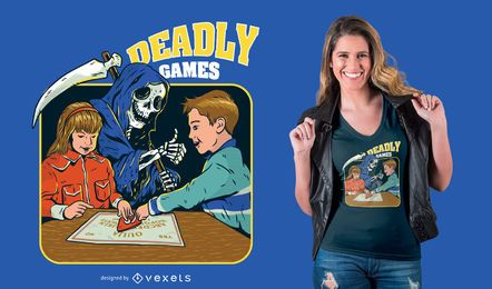 Deadly Games Funny Parody T-shirt Design