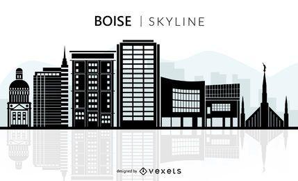 Silueta del horizonte de Boise