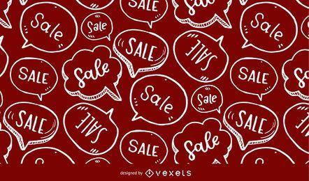 Patrón de burbuja de discurso de venta