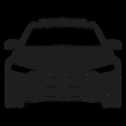 Bmw vista frontal del coche silueta