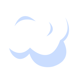 Cloud weather forecast illustration