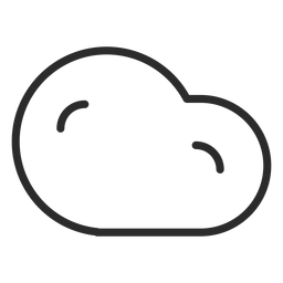 Cloud weather forecast stroke icon