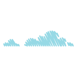 Clouds scribble icon