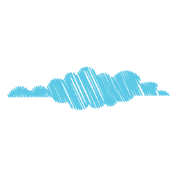 Cloudy forecast scribble icon