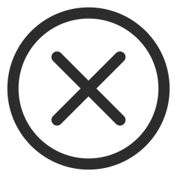 Cross check mark stroke icon