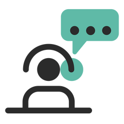 Customer support contact icon
