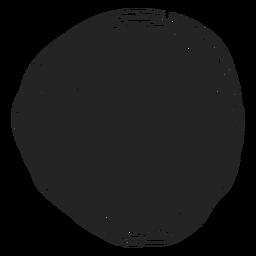Icono de doodle de círculo llenado