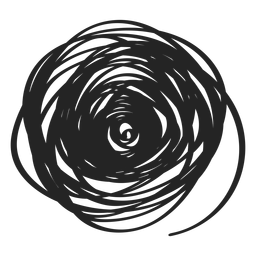 Filled circle scribble