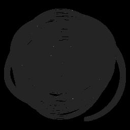 Garabato de círculo relleno