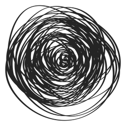 Filled circle scribble icon