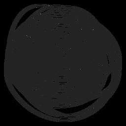 Icono de garabato lleno de círculo