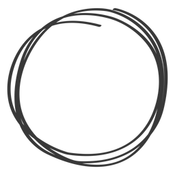 Hand drawn circle element