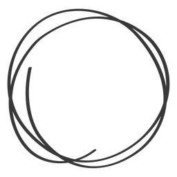 Hand drawn circle scribble icon