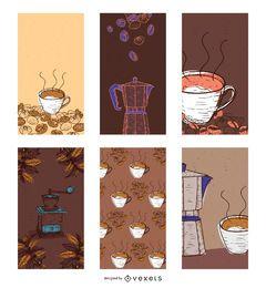 Vector Banners de café