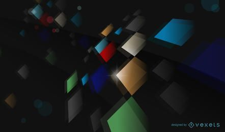 Abstract Color Vector Background with Shapes