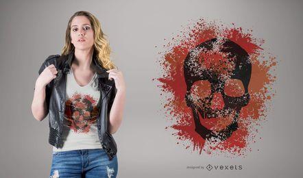 Grunge skull t-shirt design