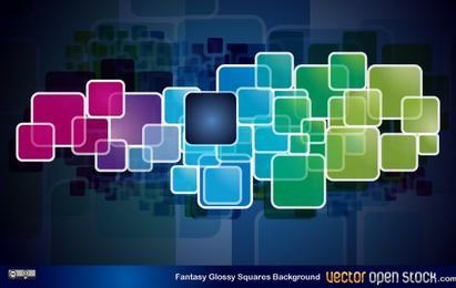 Fantasy Glossy Squares Background
