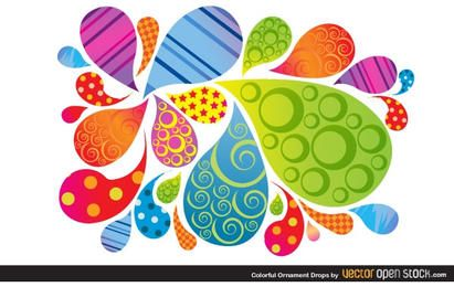 Colorful Ornament Drops