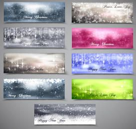 Blurry & Snowy Xmas Banner Pack