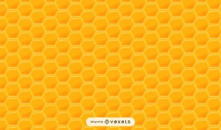 Glossy Hexagonal Honey Pattern