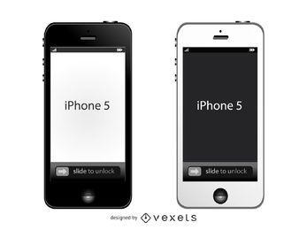 Maqueta frontal de Apple iPhone 5