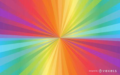 Bright Rainbow Sunbeam Background
