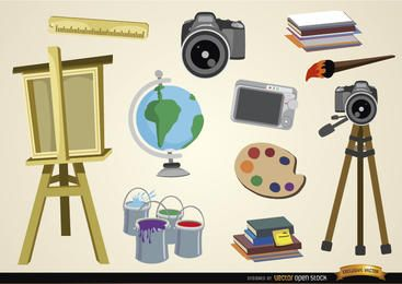 Visual arts and studies objects