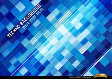 Techno squares background