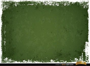 Green scratched wall grunge background