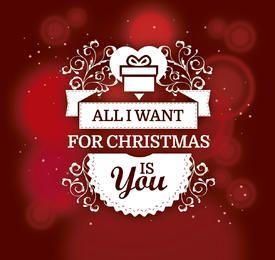 Romantic Christmas gift background