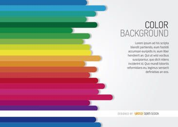 Horizontal rainbow bars background
