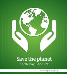Earth day planet poster