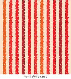 Orange red scribble stripes