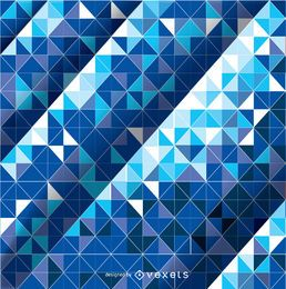 Abstract Mosaic Blue Background