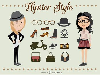 Hipster Girl Characters