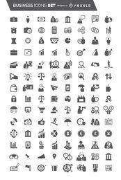 104 Flat Business Icon set