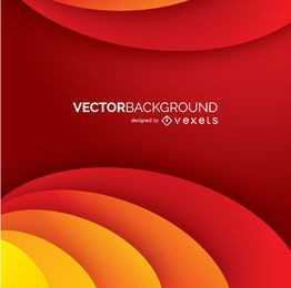 Abstract curves red background