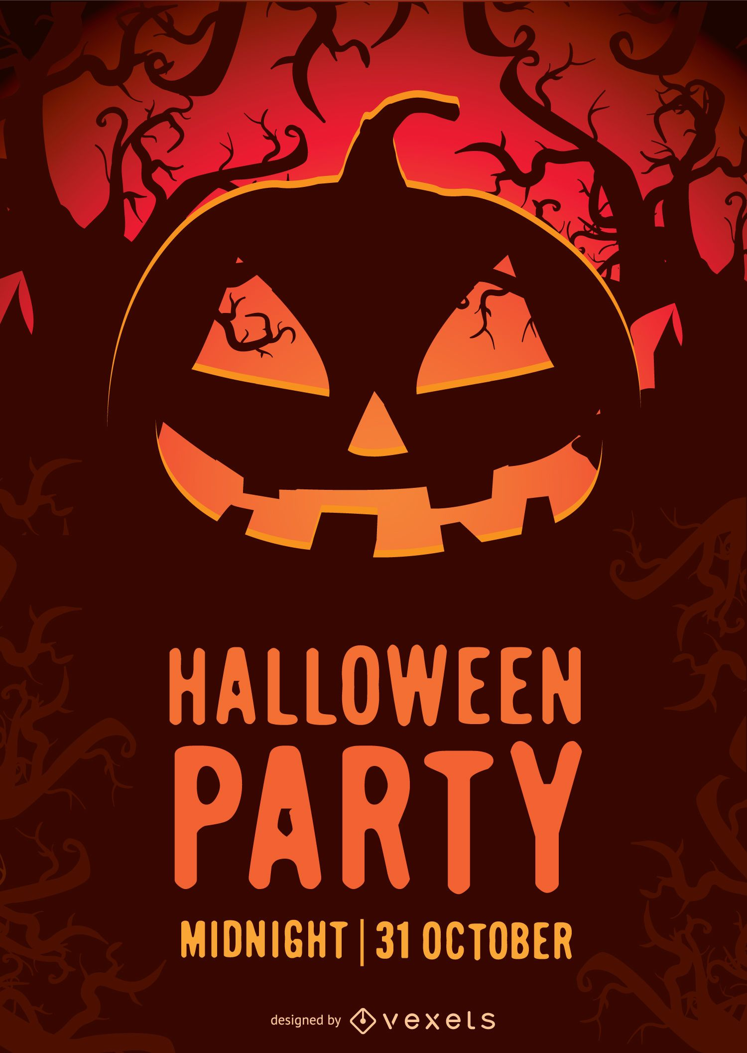 halloween party poster vector download rh vexels com halloween party poster templates free halloween party poster editable