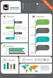 Creative Visual resume CV