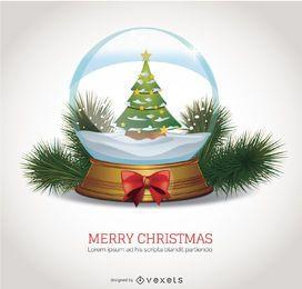 Christmas Snow Globe isolated