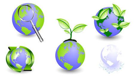 Abstract eco globe icons