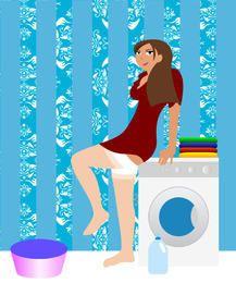 Beautiful female housewife