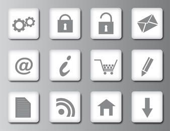 Clean Web 2.0 Icons