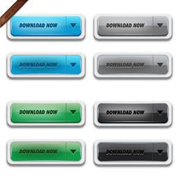 Glossy Vector Download Buttons