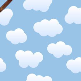 Seamless Vector Clouds Background
